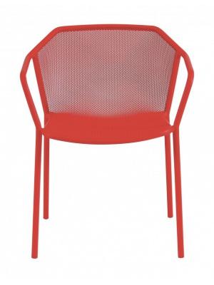 Lot de 4 fauteuils Darwin rouge écarlate