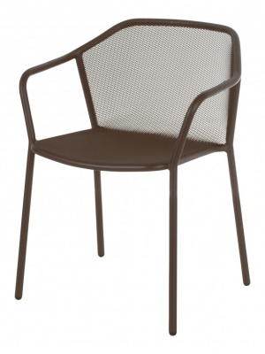 Lot de 4 fauteuils Darwin marron d'Inde
