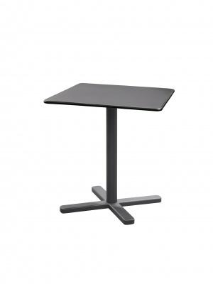 Table carrée pliante Darwin 70 fer ancien