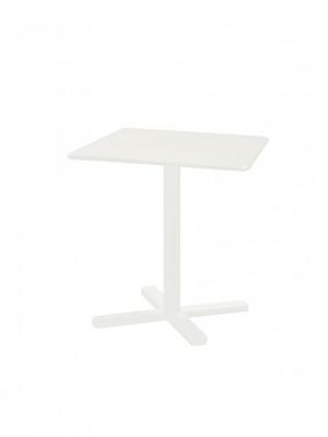 Table carrée pliante Darwin 70 blanche