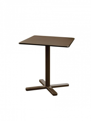 Table carrée pliante Darwin 70 marron d'Inde