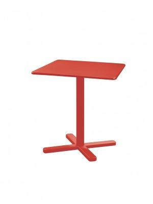 Table carrée pliante Darwin 70 rouge écarlate