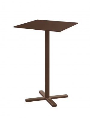 Table haute Darwin marron d'Inde