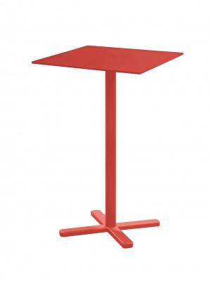 Table haute Darwin rouge écarlate