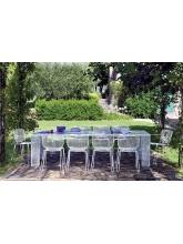 Table de jardin IVY + 8 chaises + 2 fauteuils