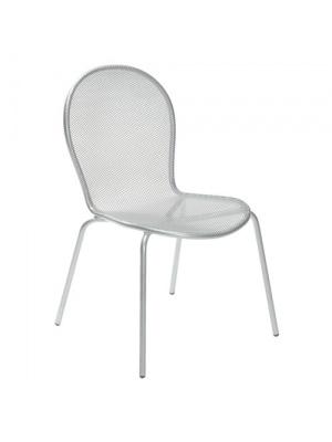 Lot de 4 chaises Ronda Grises aluminium