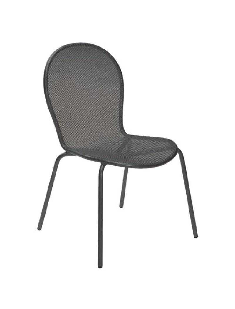EMU Lot de 4 chaises Ronda Fer Ancien