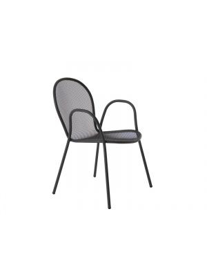 Lot de 4 fauteuils Ronda Noirs