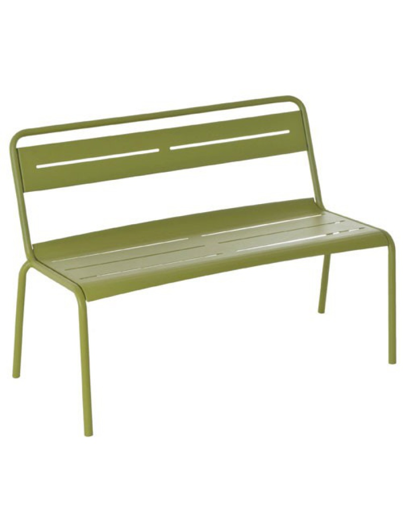 banc star avec lattes m tal vert emu bancs de jardin jardin concept. Black Bedroom Furniture Sets. Home Design Ideas
