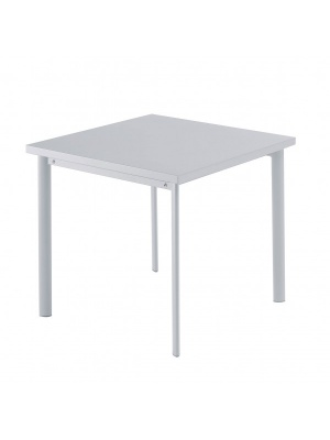 Table carrée Star 70cm Grise aluminium