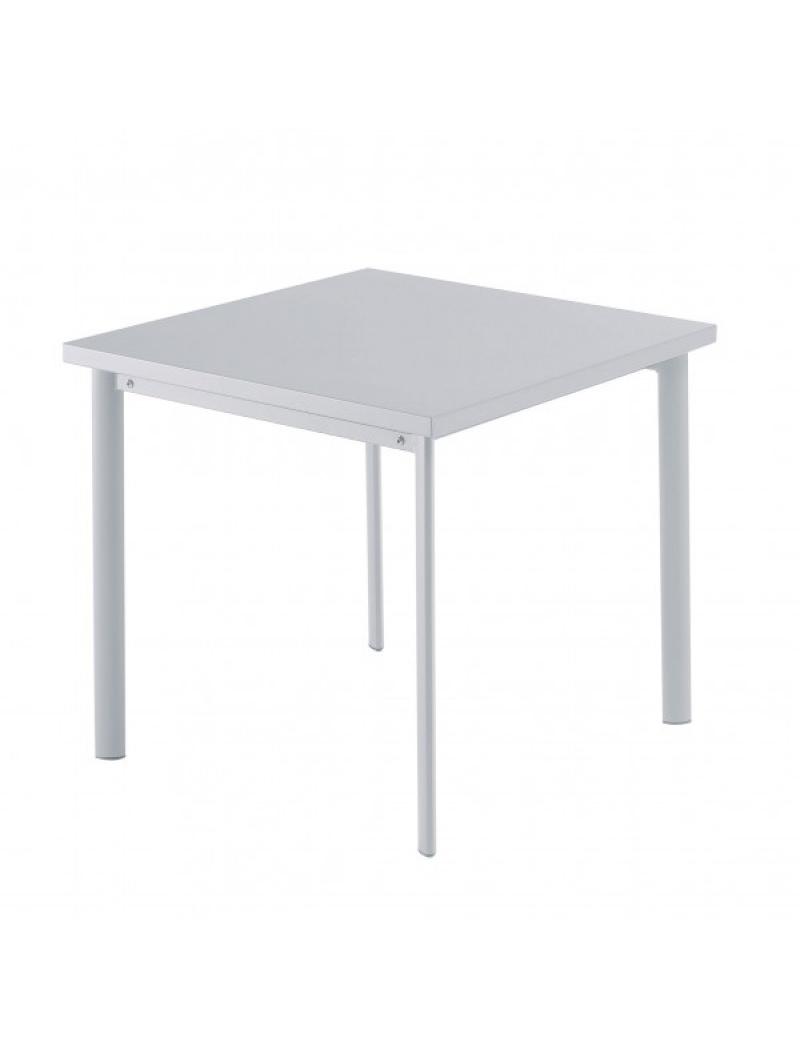 Table carrée Star 70cm Grise aluminium