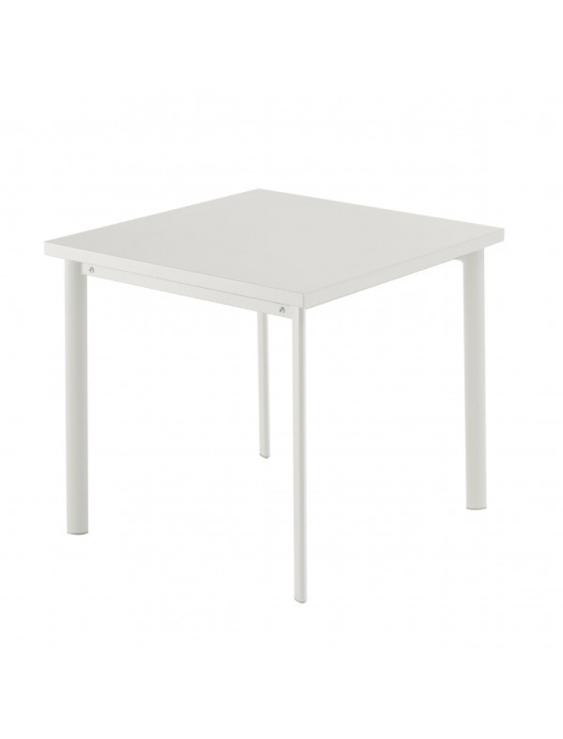 Table carrée Star 70cm Blanche