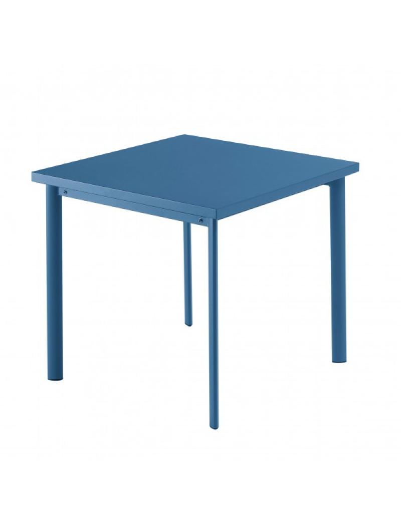 Table carrée Star 70cm Bleue