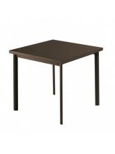 Table carrée Star 70cm Marron d'inde