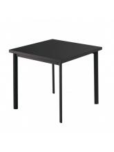Table carrée Star 70cm Noire