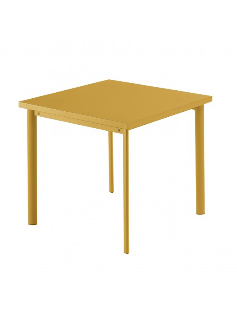 Table carrée Star 70cm Orange