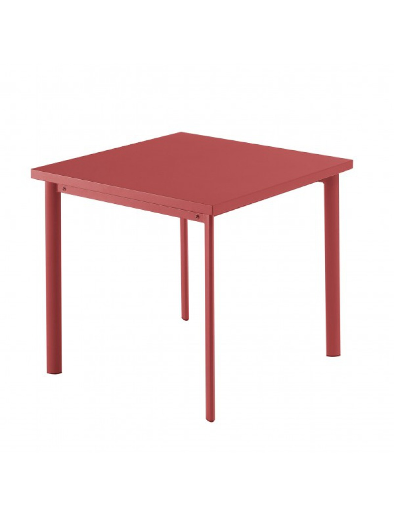table carr e star 70cm rouge emu tables de jardin en acier jardin concept. Black Bedroom Furniture Sets. Home Design Ideas
