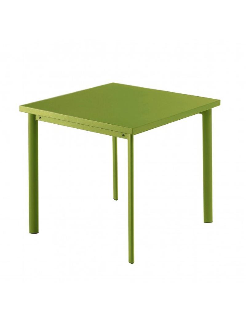 Table carrée Star 70cm Verte claire