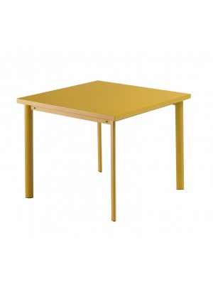 Table carrée Star 90cm Orange