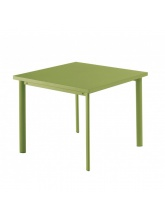 Table carrée Star 90cm Verte claire