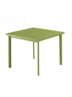 Table carrée Star 90cm Verte claire