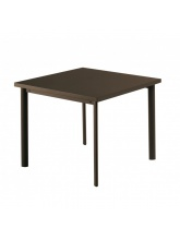 Table carrée Star 90cm Marron d'inde