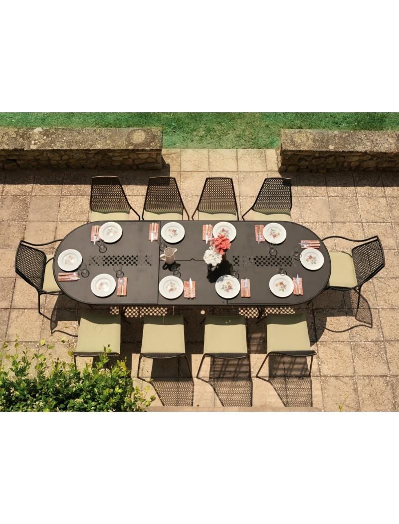 Table Vera ovale + 8 chaises + 2 fauteuils