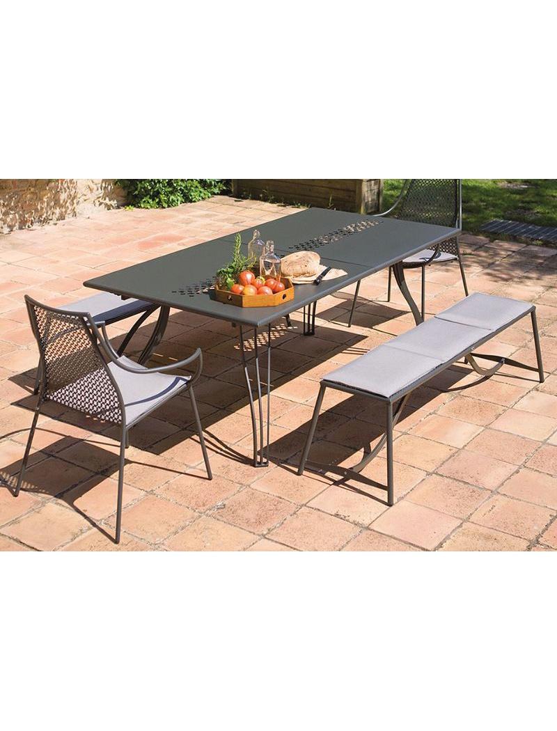 Ensemble repas EMU : Table de jardin Vera rectangulaire extensible + ...