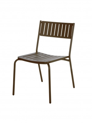 Lot de 4 chaises Bridge marron d'Inde