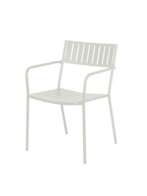 Lot de 4 fauteuils Bridge blancs