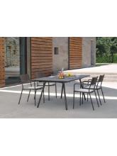 Table de jardin Bridge 180 + 8 fauteuils