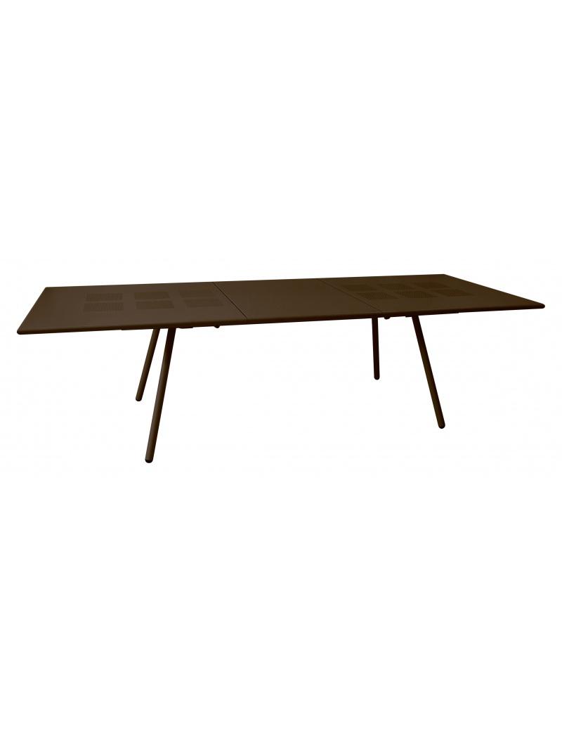 Table rectangulaire extensible bridge marron emu tables - Table rectangulaire extensible ...