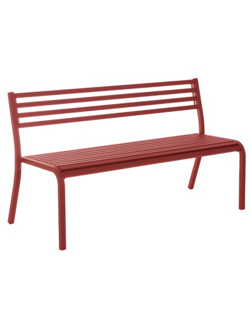 banc segno 2 places rouge carlate emu bancs de jardin jardin concept. Black Bedroom Furniture Sets. Home Design Ideas