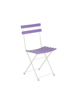 Lot de 2 chaises arc en ciel lilas
