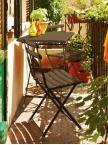 Ensemble Arc en ciel table + 2 chaises coloris marron d'inde