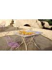 Ensemble Pigalle table carrée et 4 chaises - 6 coloris