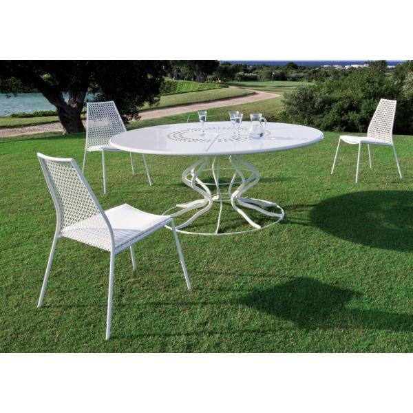 Mobilier De Jardin Ensemble Table Ronde Minuetto Et 8