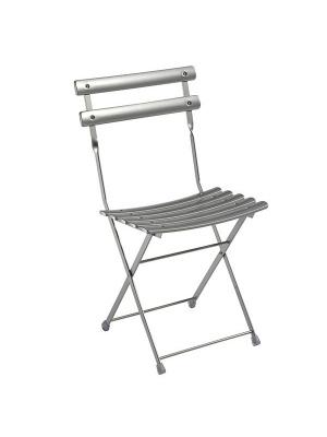 Lot de 2 chaises arc en ciel grises aluminium