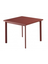 Table carrée Star 90 Rouge