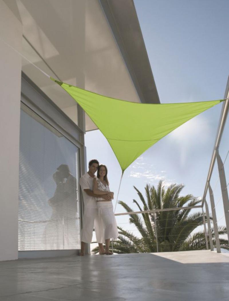 Voile solaire triangulaire 5m imperméabilisé