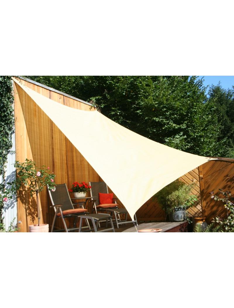 voile d 39 ombrage rectangulaire coloris sable x 3m en tissu ajour. Black Bedroom Furniture Sets. Home Design Ideas