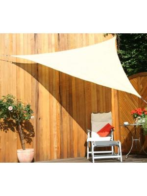 Voile solaire triangulaire 3m sable en tissu ajouré