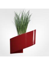 Pot de fleurs mural rouge brillant 16cm