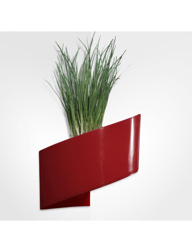 de fleurs mural rouge brillant 16cm Green Turn - Bac à fleurs design ...