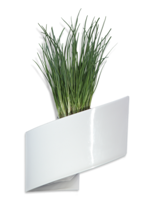 Pot de fleurs mural blanc brillant 16cm