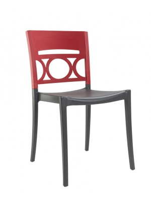 Chaise Moon Gris anthracite / Rouge