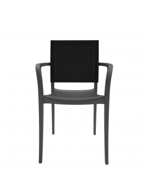 Fauteuil Looma Anthracite/Toile noire