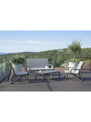 Salon de jardin Sunset Gris platinium