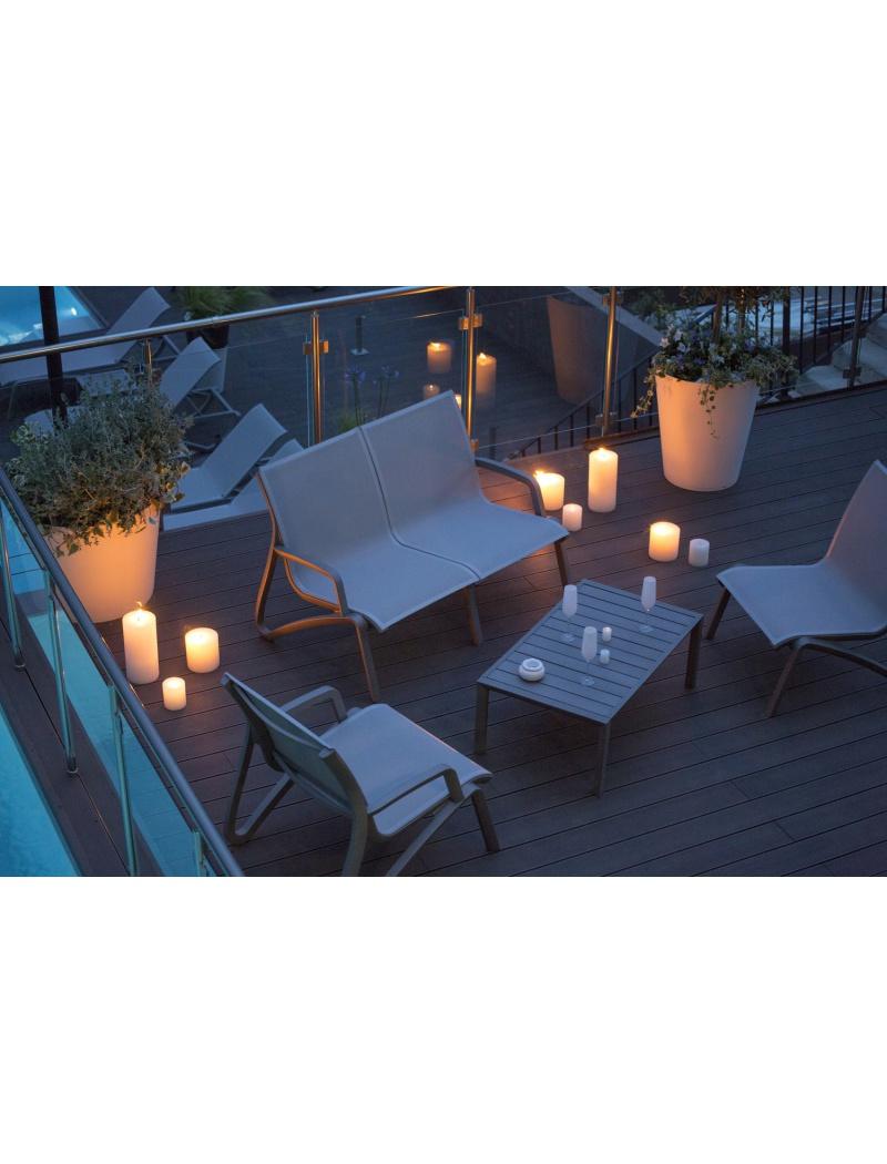 Salon de jardin Sunset Noir volcanique