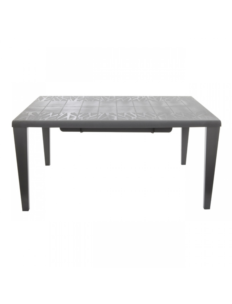 Table Végétal gris anthracite avec allonges Grosfillex - Tables de ...